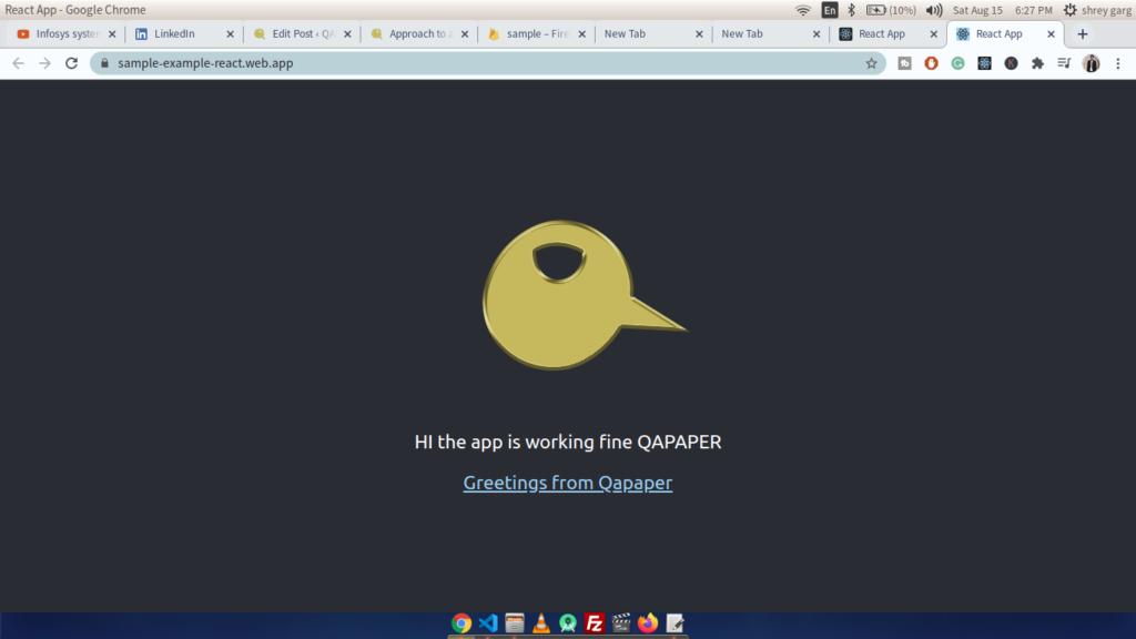 deploy react app to firebase