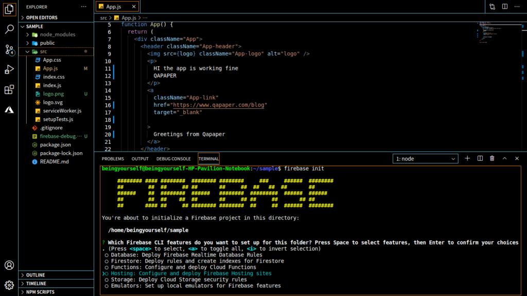 Firebase free hosting